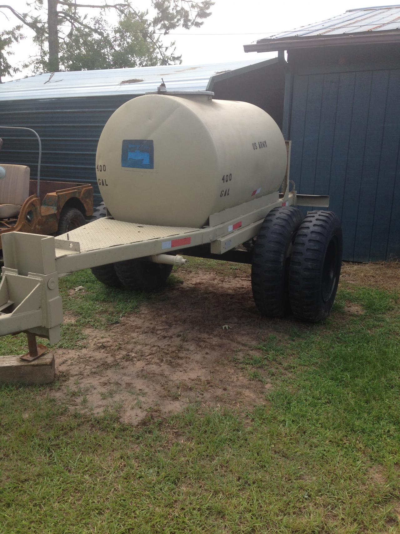 400 Gallon Water Tanker Trailer